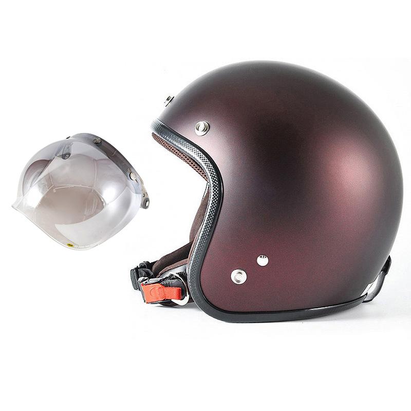 72JAM デザイナーズジェットヘルメット [JP-10] 開閉シールド付き [JCBN-03]TWILIGHT トワイライト+ レッド [メタリックブラックベース キャンディーレッド マット仕上げ]FREEサイズ(57-60cm未満) メンズ レディース 兼用品 SG規格 全排気量対応