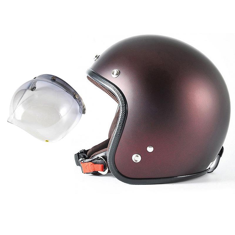 72JAM デザイナーズジェットヘルメット [JP-10] 開閉シールド付き [JCBN-05]TWILIGHT トワイライト+ レッド [メタリックブラックベース キャンディーレッド マット仕上げ]FREEサイズ(57-60cm未満) メンズ レディース 兼用品 SG規格 全排気量対応