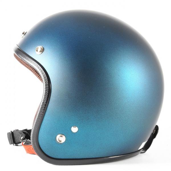 72JAM デザイナーズジェットヘルメット [JP-11]TWILIGHT トワイライト+ ブルー [メタリックブラックベース キャンディーブルー マット仕上げ]FREEサイズ(57-60cm未満) メンズ レディース 兼用品 SG規格 全排気量対応