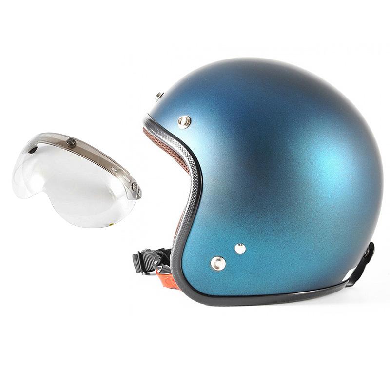 72JAM デザイナーズジェットヘルメット [JP-11] 開閉シールド付き [APS-03]TWILIGHT トワイライト+ ブルー [メタリックブラックベース キャンディーブルー マット仕上げ]FREEサイズ(57-60cm未満) メンズ レディース 兼用品 SG規格 全排気量対応