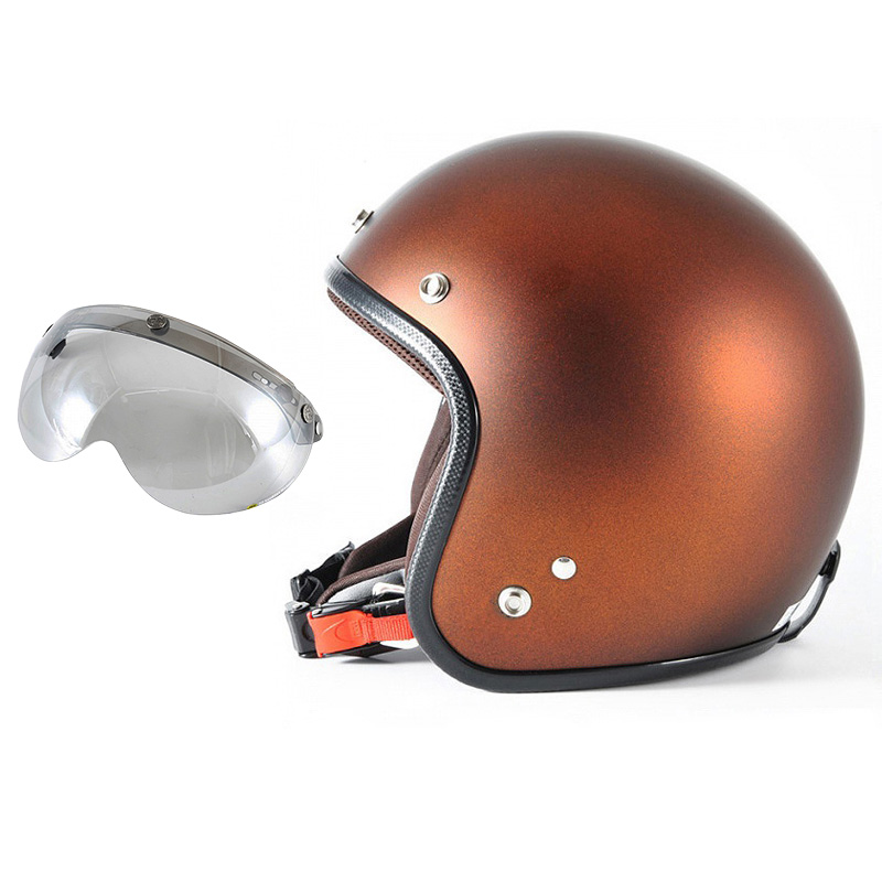72JAM デザイナーズジェットヘルメット [JP-12] 開閉シールド付き [APS-04]TWILIGHT トワイライト+ オレンジ [メタリックブラックベース キャンディーオレンジ マット仕上げ]FREEサイズ(57-60cm未満) メンズ レディース 兼用品 SG規格 全排気量対応