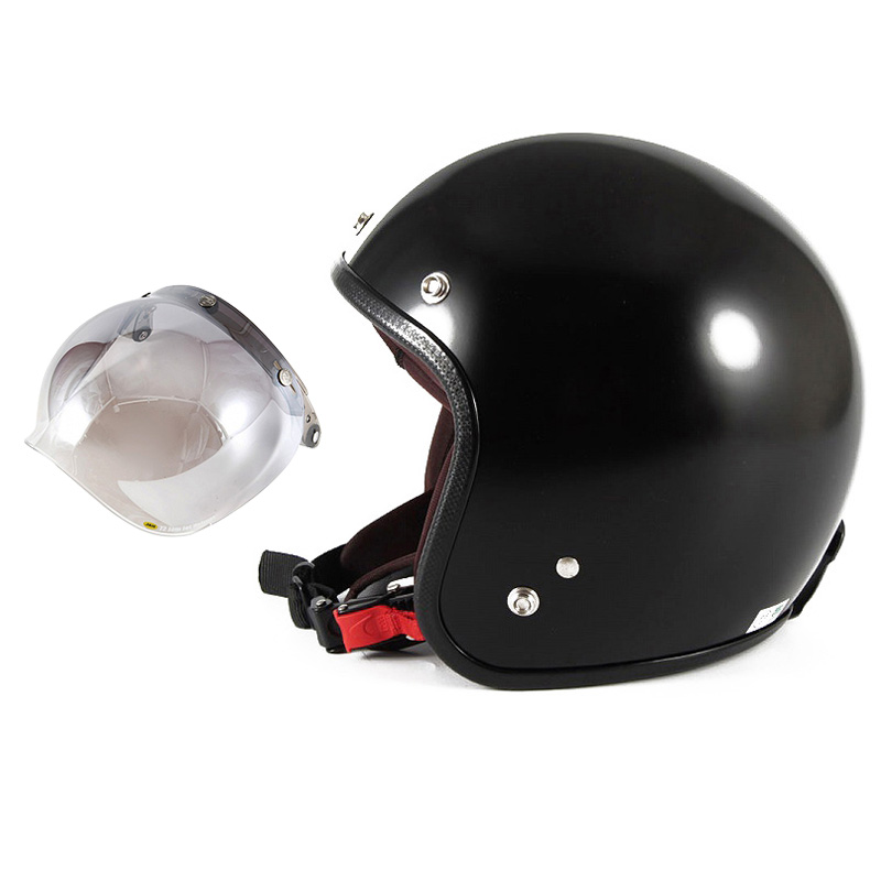 【JPBH-1+JCBN-03】ジャムテックジャパン 72JAM JPBH-1JP MONO BLACK HAWK ジェットヘルメット [セミグロスブラックベース]FREEサイズ(57-60cm未満) メンズ レディース 兼用品 SG規格 全排気量対応