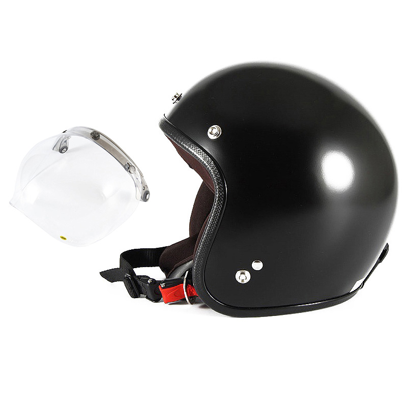 【JPBM-5L+JCBN-01】ジャムテックジャパン 72JAM JPBM-5LJP MONO ジェットヘルメット [マットブラックプレーン]Lサイズ(60-62cm未満) メンズ SG規格 全排気量対応