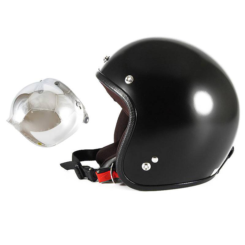 【JPBM-5L+JCBN-02】ジャムテックジャパン 72JAM JPBM-5LJP MONO ジェットヘルメット [マットブラックプレーン]Lサイズ(60-62cm未満) メンズ SG規格 全排気量対応