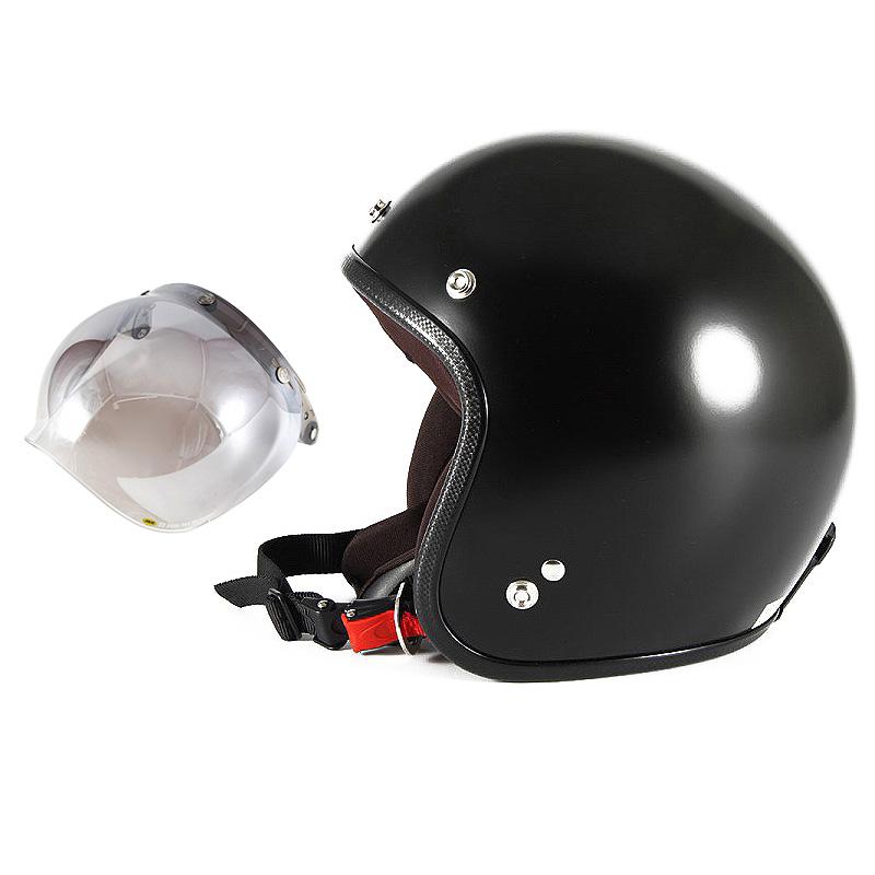 【JPBM-5L+JCBN-03】ジャムテックジャパン 72JAM JPBM-5LJP MONO ジェットヘルメット [マットブラックプレーン]Lサイズ(60-62cm未満) メンズ SG規格 全排気量対応