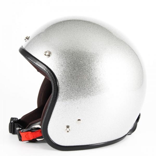 ジャムテックジャパン 72JAM JPF-4LJP MONO ジェットヘルメット [シルバーフレーク]Lサイズ(60-62cm未満) メンズ SG規格 全排気量対応