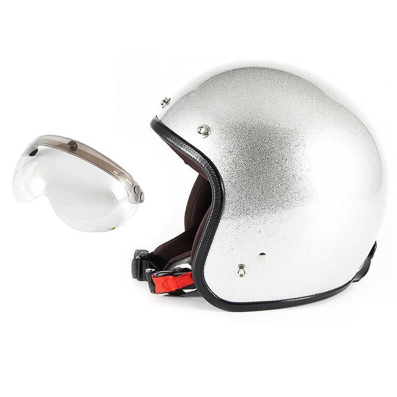 【JPF-4+APS-03】ジャムテックジャパン 72JAM JPF-4JP MONO ジェットヘルメット [シルバーフレーク]2サイズ メンズ レディース 兼用品 SG規格 全排気量対応