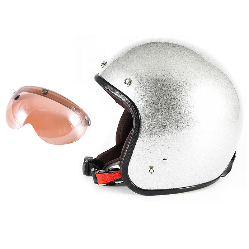 【JPF-4L+APS-05】ジャムテックジャパン 72JAM JPF-4LJP MONO ジェットヘルメット [シルバーフレーク]Lサイズ(60-62cm未満) メンズ SG規格 全排気量対応