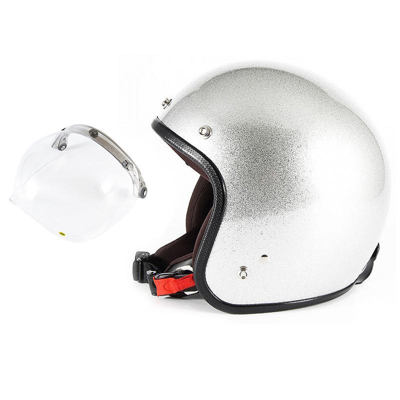 【JPF-4+JCBN-01】ジャムテックジャパン 72JAM JPF-4JP MONO ジェットヘルメット [シルバーフレーク]2サイズ メンズ レディース 兼用品 SG規格 全排気量対応