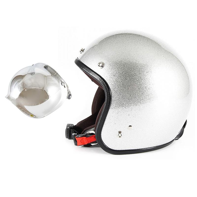 【JPF-4L+JCBN-02】ジャムテックジャパン 72JAM JPF-4LJP MONO ジェットヘルメット [シルバーフレーク]Lサイズ(60-62cm未満) メンズ SG規格 全排気量対応