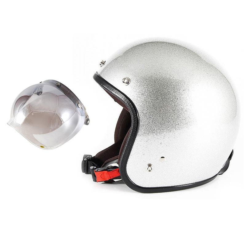 【JPF-4+JCBN-03】ジャムテックジャパン 72JAM JPF-4JP MONO ジェットヘルメット [シルバーフレーク]2サイズ メンズ レディース 兼用品 SG規格 全排気量対応