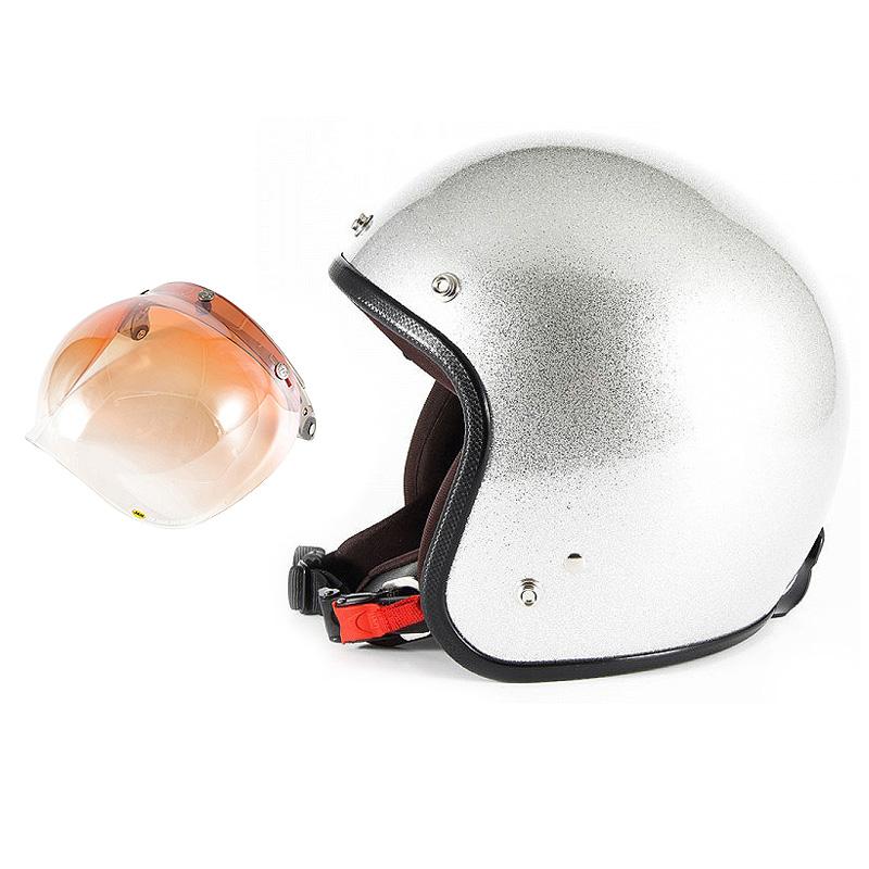 【JPF-4+JCBN-04】ジャムテックジャパン 72JAM JPF-4JP MONO ジェットヘルメット [シルバーフレーク]2サイズ メンズ レディース 兼用品 SG規格 全排気量対応