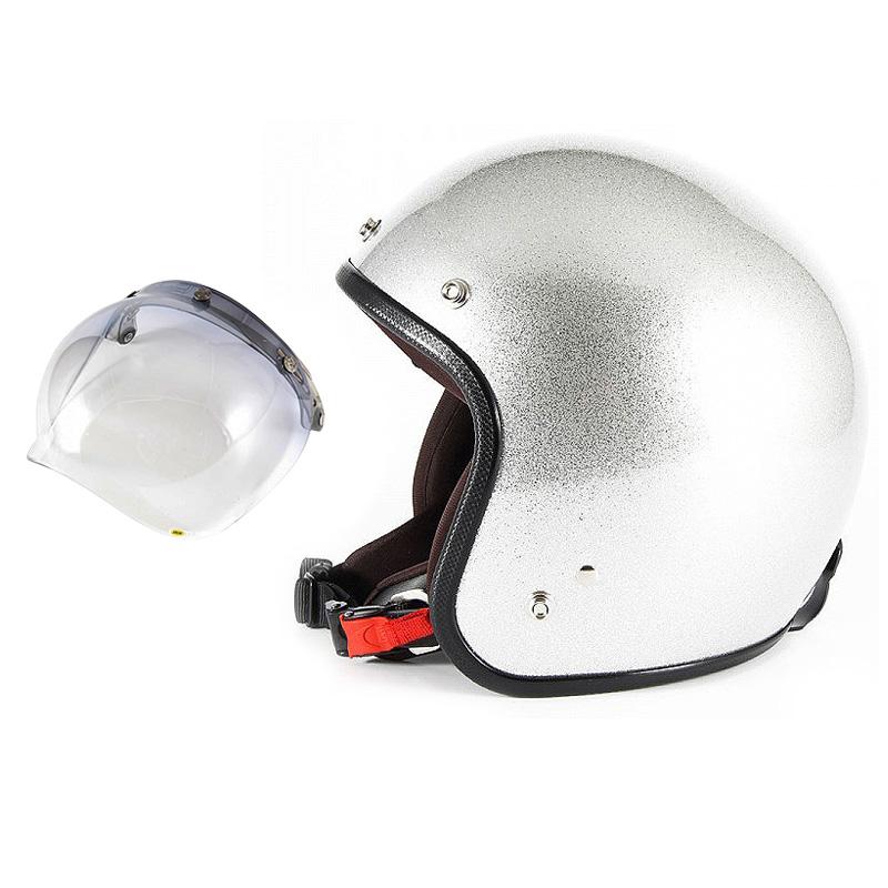 【JPF-4+JCBN-05】ジャムテックジャパン 72JAM JPF-4JP MONO ジェットヘルメット [シルバーフレーク]2サイズ メンズ レディース 兼用品 SG規格 全排気量対応