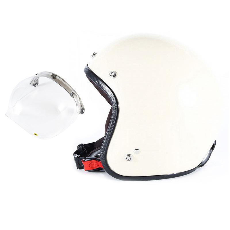 【JPIM-6L+JCBN-01】ジャムテックジャパン 72JAM JPIM-6LJP MONO ジェットヘルメット [マットアイボリープレーン]Lサイズ(60-62cm未満) メンズ SG規格 全排気量対応