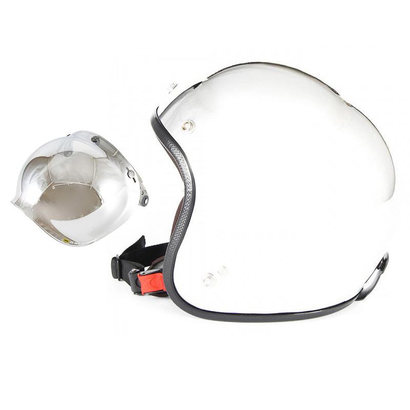 【JPM-3+JCBN-02】ジャムテックジャパン 72JAM JPM-3JP MONO ジェットヘルメット [メッキプレーン]3サイズ メンズ レディース 兼用品 SG規格 全排気量対応