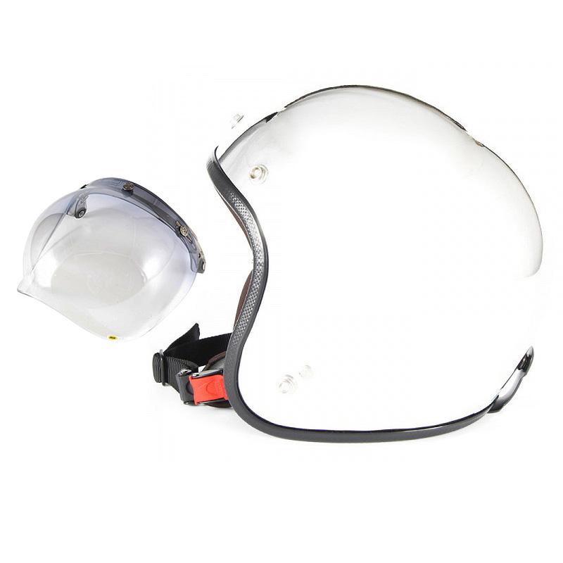 【JPM-3+JCBN-05】ジャムテックジャパン 72JAM JPM-3JP MONO ジェットヘルメット [メッキプレーン]3サイズ メンズ レディース 兼用品 SG規格 全排気量対応