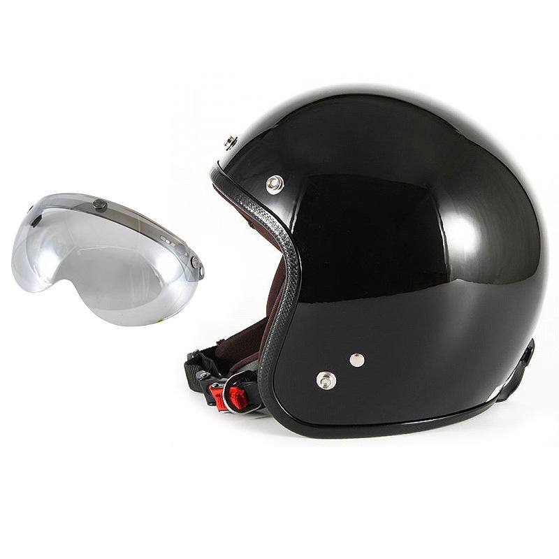 【JPW-2L+APS-04】ジャムテックジャパン 72JAM JPW-2LJP MONO ジェットヘルメット [グロスブラック]Lサイズ(60-62cm未満) メンズ SG規格 全排気量対応