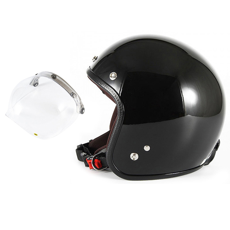 【JPW-2L+JCBN-01】ジャムテックジャパン 72JAM JPW-2LJP MONO ジェットヘルメット [グロスブラック]Lサイズ(60-62cm未満) メンズ SG規格 全排気量対応