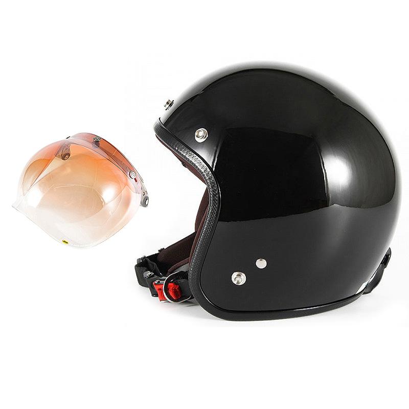【JPW-2L+JCBN-04】ジャムテックジャパン 72JAM JPW-2LJP MONO ジェットヘルメット [グロスブラック]Lサイズ(60-62cm未満) メンズ SG規格 全排気量対応