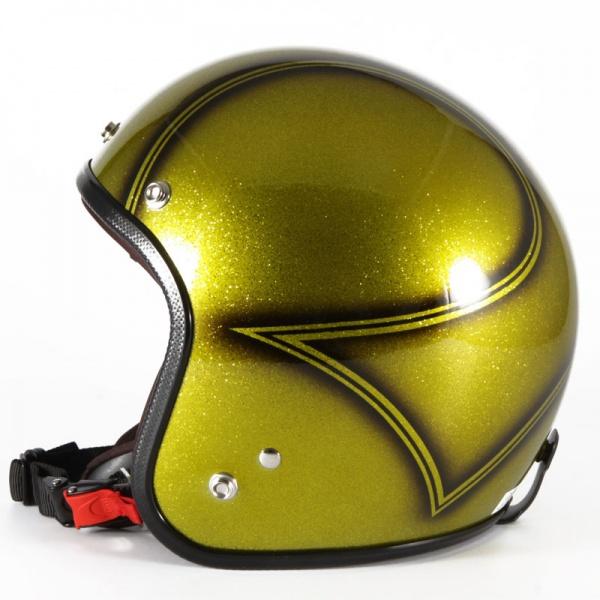 72JAM デザイナーズジェットヘルメット [VNT-02]VOLCANO G ヴィンテージ [ゴールドシルバーフレークベースグロス仕上げ]FREEサイズ(57-60cm未満) メンズ レディース 兼用品 SG規格 全排気量対応