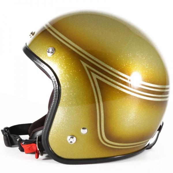 72JAM デザイナーズジェットヘルメット [VNT-04]SHINE GOLD ヴィンテージ [ゴールドシルバーフレークベースグロス仕上げ]FREEサイズ(57-60cm未満) メンズ レディース 兼用品 SG規格 全排気量対応
