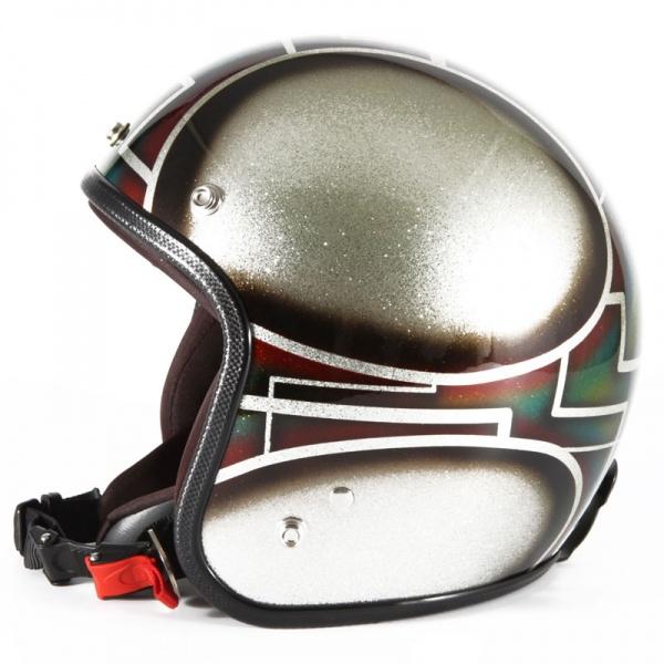 72JAM デザイナーズジェットヘルメット [VNT-11]GIMMICK ヴィンテージ [オレンジシルバーフレークベースグロス仕上げ]FREEサイズ(57-60cm未満) メンズ レディース 兼用品 SG規格 全排気量対応