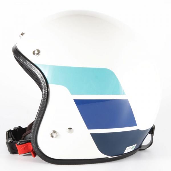 72JAM デザイナーズジェットヘルメット [WRK-03]GS ヴィンテージ [ホワイトベース グロス仕上げ]FREEサイズ(57-60cm未満) メンズ レディース 兼用品 SG規格 全排気量対応