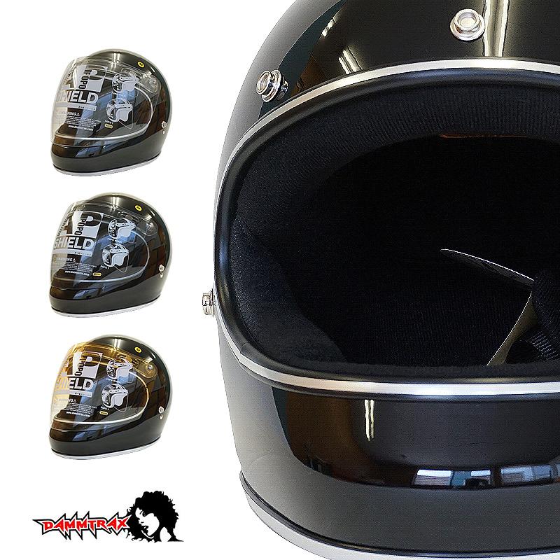 開閉シールド付きダムトラックス アキラ DAMMTRAX AKIRA フルフェイス ヘルメット [ブラック]2サイズ メンズ レディース 兼用品 SG規格 全排気量対応 バイク用