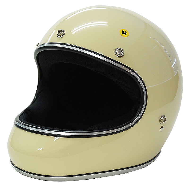 ドラッグスタイル フルフェイス ヘルメット AKIRA アキラ [アイボリー/2サイズ]DAMMTRAX ダムトラックス メンズ レディース 兼用品 SG規格 全排気量対応 バイク用