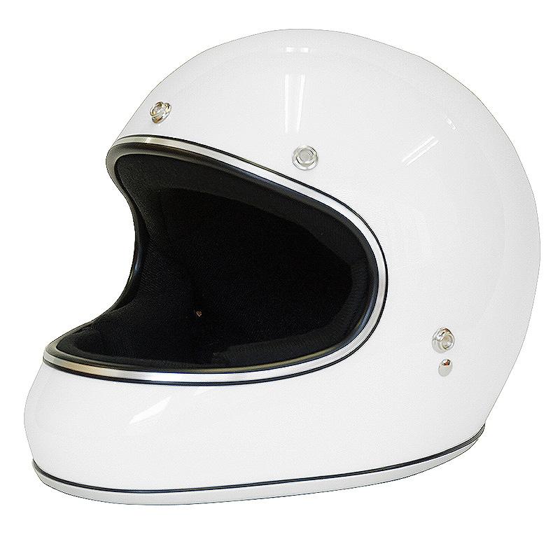 ドラッグスタイル フルフェイス ヘルメット AKIRA アキラ [ホワイト/2サイズ]DAMMTRAX ダムトラックス メンズ レディース 兼用品 SG規格 全排気量対応 バイク用