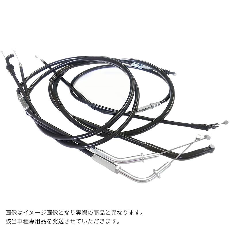 KH250/400 純正タイプ ブラック ワイヤーセット (スロットル・クラッチ・チョーク) KH250/400/ワイヤーセット/ハンドル交換/補修パーツ
