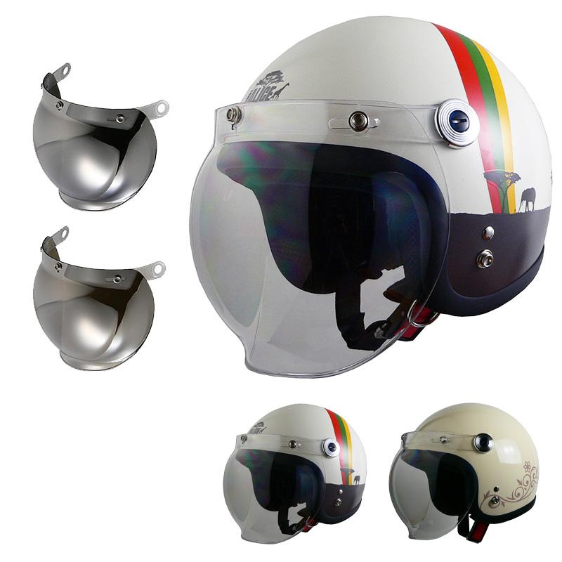 レディースジェットヘルメット クリアシールド + ミラーシールド付き リード工業 QP-2 STREET ALICE [ヘルメット2カラー/シールド2カラー]レディースFREEサイズ(55-57cm未満) SG規格 全排気量対応