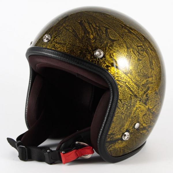 ジャムテックジャパン 72JAM JCP-18 ジェットヘルメット [RASH/ゴールド/FREEサイズ(57-60cm未満)]