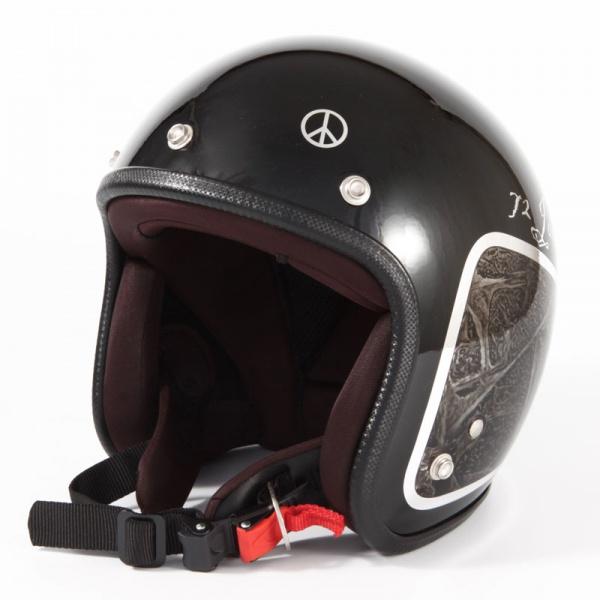 ジャムテックジャパン 72JAM JCP-40 ジェットヘルメット [WEED/ブラック/FREEサイズ(57-60cm未満)]