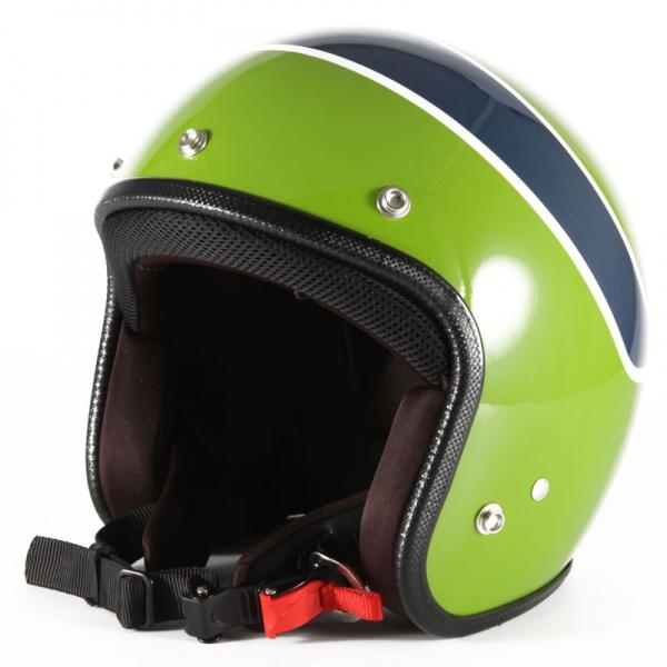 ジャムテックジャパン 72JAM WRK-04 ジェットヘルメット [ヴィンテージ LG/グリーンベース グロス仕上げ/FREEサイズ(57-60cm未満)]