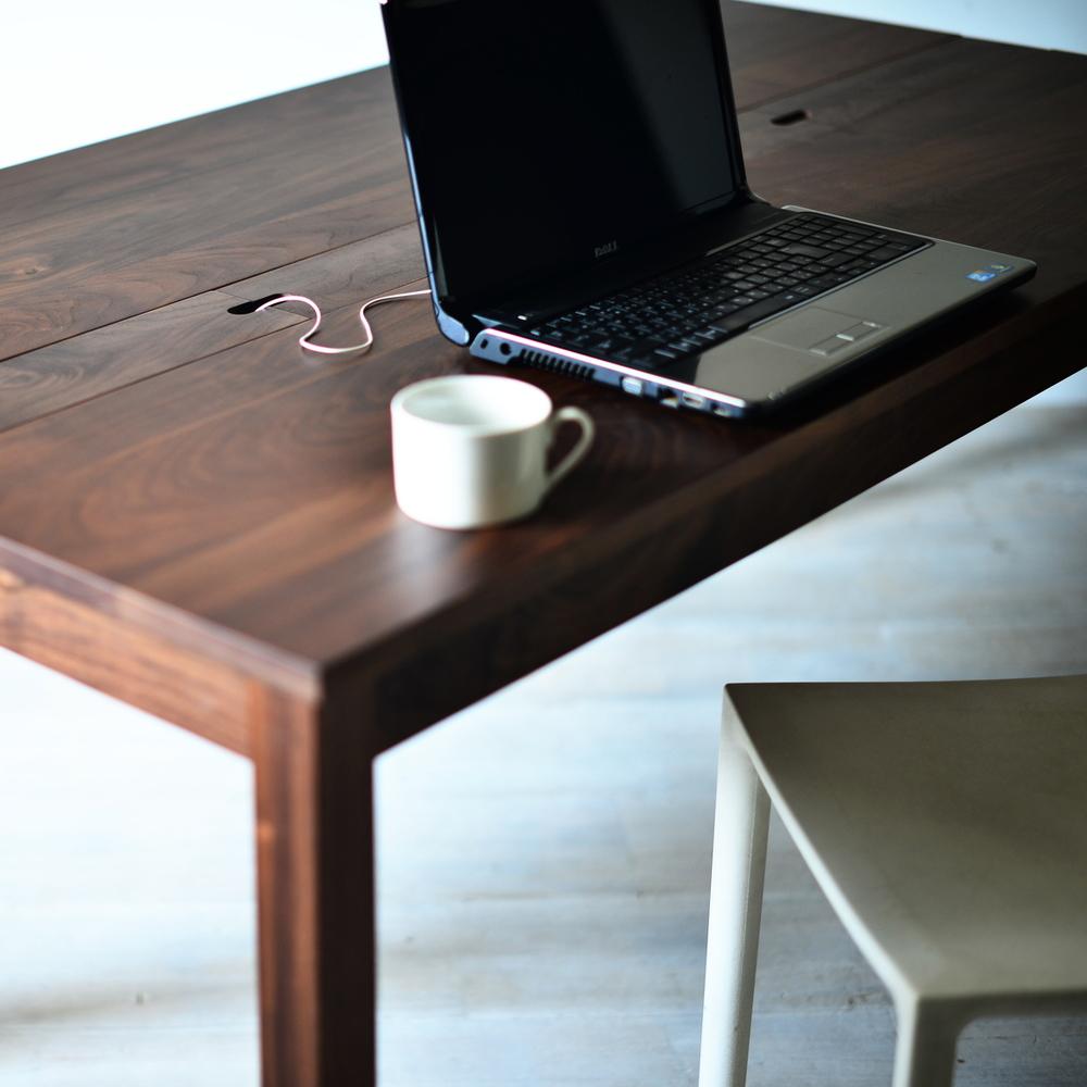 スマートデスク 150 配線収納 パソコンデスク PCデスク 学習机 勉強机 ワークデスク ウォールナット オーク チェリー 無垢材 オーダー可 北欧テイスト おしゃれ 木製 日本製 国産 大川家具 送料無料 ダイニングテーブル