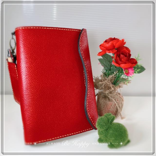 こだわりの手縫 人気のA5サイズ 国産本革システム手帳 リフィル付10点セットとミンクオイル付き