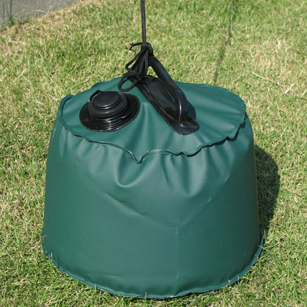 いろいろなおもしに使える!注水式で、カンタン設置! 屋外用マルチウエイト6L グリーン 直径:約25cm×高さ:約20cm (9628754)送料別 通常配送
