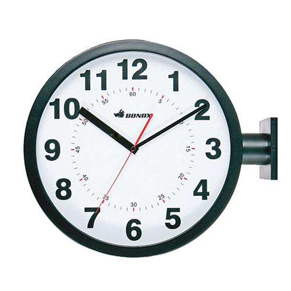 ダルトン ダブルフェイス ウォールクロック S82429BK ブラック 両面壁掛け時計