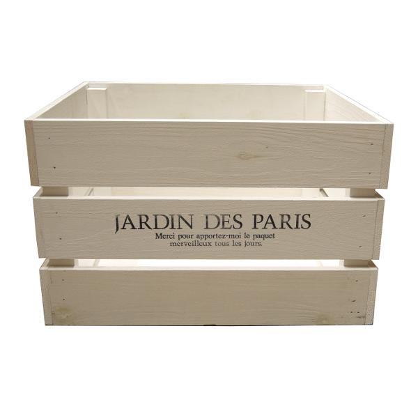 アンティーク おしゃれ 収納 完全送料無料 収納ケース DIY ハンズマン 箱 収納ボックス アンティークボックス 大 ホワイト 通常配送 ボックス 日本未発売 木製 9210350 木箱 113k 収納箱 ウッドボックス 送料別 450×300×280mm