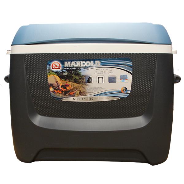 igloo イグルー アイランドブリーズ マックスコールド 50 ローラー 47L ジェットカーボン #34065 (2946572) 取寄せ商品 送料別見積 大型・割れ物