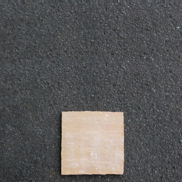 インド直輸入 玄関 庭 アプローチ DIY ハンズマン ステップストーン 天然石 敷石 ストア 約27.5cm×約27.5cm 3219470 小 ※ラッピング ※ 送料別 イエローブラウン GLENMOOR 通常配送
