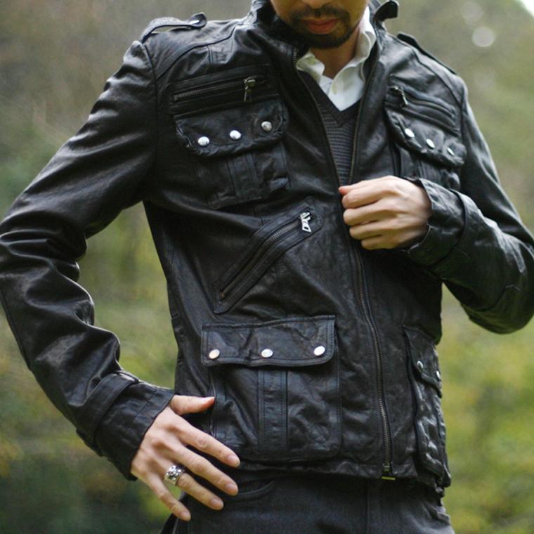 レザージャケット メンズ アンティーク加工 着こなし キャメル ライダース ブラウン フリーダム ラム 本革 革ジャン 皮ジャン ブランド レザーコート シングルライダース