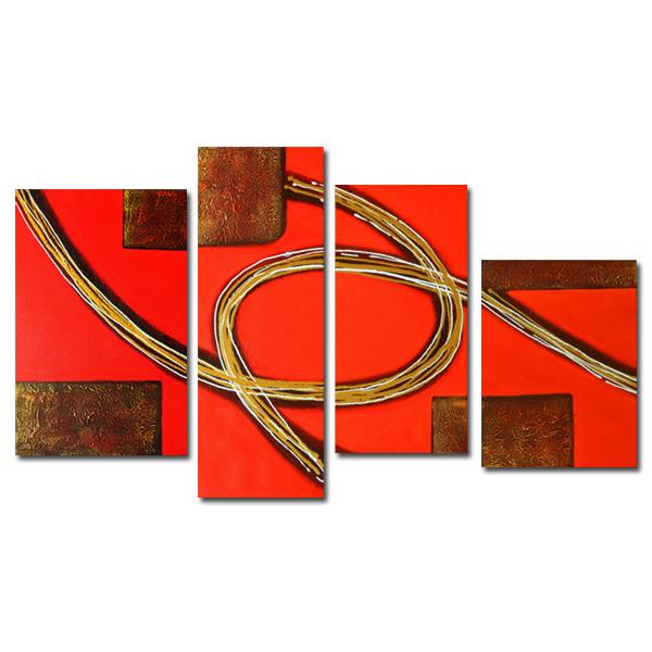 【モダン油絵工房】 油絵 現代絵画 インテリア 壁掛け 手書きモダン油絵 抽象画ライン 2FAE-1009 30×80cm 30×60cm 40×50cm