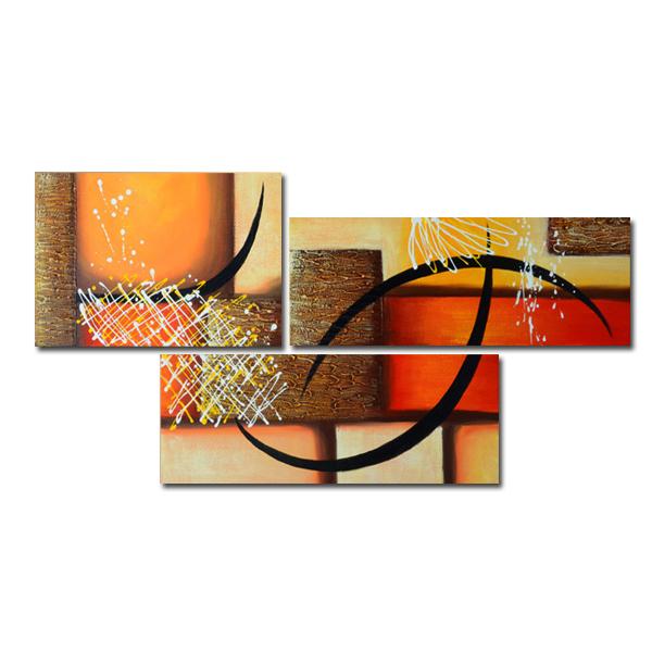 【モダン油絵工房】 油絵 現代絵画 インテリア 壁掛け 手書きモダン油絵 抽象画ライン 2FAE-1194 40×60cm 30×80cm