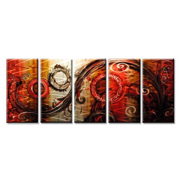 【現代アート工房】 メタルアート 現代絵画 インテリア 絵画 壁掛け 立体感のあるモダンアート ハンドメイド作品 抽象画ライン 2FMA-410 30×80cm-5