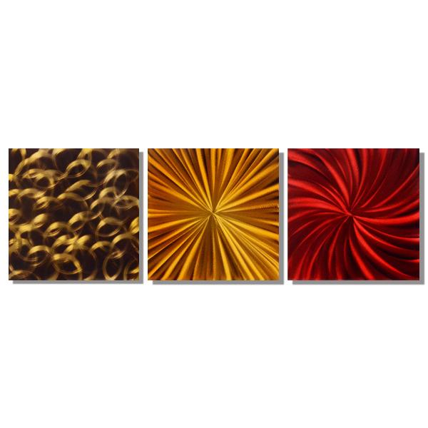 【現代アート工房】 メタルアート 現代絵画 インテリア 絵画 壁掛け 立体感のあるモダンアート ハンドメイド作品 抽象画ライン 2FMA-432 60×60cm-3