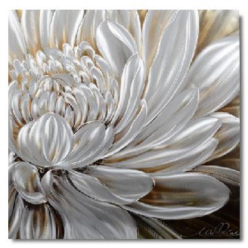 【現代アート工房】 メタルアート 現代絵画 立体感のあるモダンアート ハンドメイド作品 ナチュラルライン 花E 2FMA-839 80×80cm