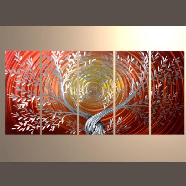 メタルアート 絵画 鉄板 加工 インテリア 現代 アート パネル モダン 壁掛け ハンドメイド作品 立体感のあるモダンアート 2FMA-443 ナチュラルライン 永遠の定番 30×80cm-5 プレゼント 現代絵画 木A 現代アート工房