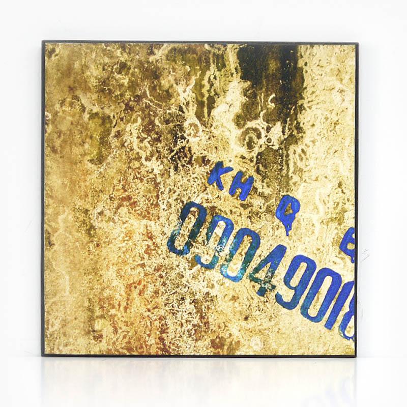 【KH CAT B TONG】木製アートパネルE モダンアート壁掛け ベトナム雑貨 インテリア 壁飾り